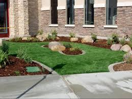fake grass calexico california landscape rock front yard