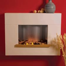 flamerite akaroa led wall mounted electric fireplace suite