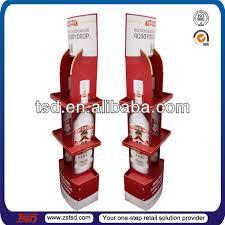 tsd w118 factory custom retail shop floor wine bottle mdf wooden