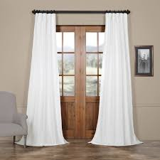 White Faux Silk Curtains Buy White Faux Silk Taffeta Curtains Drapes