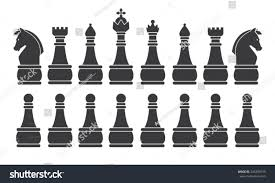 unusual chess sets black chess set symbol icon graphic stock vector 243399139