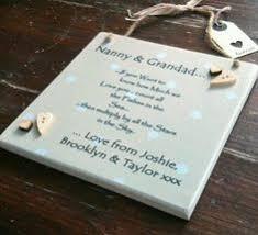 grandparent plaques personalised grandparents message gift plaque sign nan grandad
