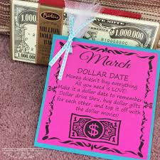 wedding gift dollar amount march dollar date part of the ultimate wedding gift 12 dates
