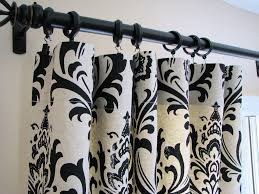 Black And White Draperies Black And White Kitchen Curtains Red And White Toile Kitchen
