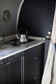 glamping chic camper trailer with gray u0026 black walls paint color