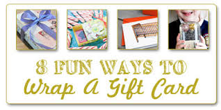 unique gift cards gift card wrapping ideas denver bargains