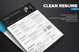 clean indesign resume template dealjumbo com u2014 discounted design