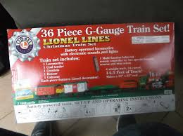 lines 36 piece g gauge christmas train set remote control new