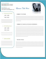 Resume Templates For Word Resume Templates Ms Word 2010 Thebridgesummit Co