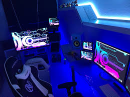 console gaming setup ideas video game best room ever pc