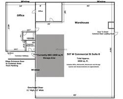 Floor Plan Of A Warehouse by 507 W Commercial Street Industrial Office Flex Space Office