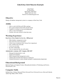 clerical resume templates sle clerical resume entry levelfice clerk templates general for