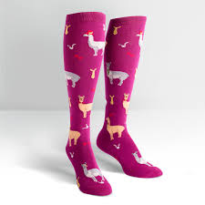 sock it to me s knee high s llama drama
