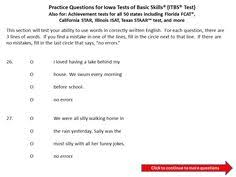 practice questions for the iowa test of basic skills itbs 3rd