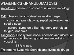 granulamatous diseases of nose