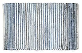 Denim Rag Rug Amazon Com Dii Contemporary Reversible One Of A Kind Area Rug