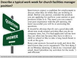 church facilities manager interview questions