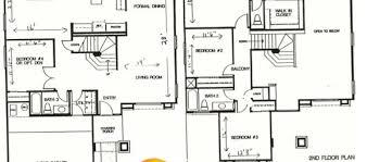 2 Story 4 Bedroom Floor Plans Magnificent 70 House Floor Plans 4 Bedroom 3 Bath Design