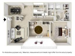 Bedroom Plan With Furniture 3d Floorplans U0026 Pricing Villa Adrian Apartments Schatten Properties