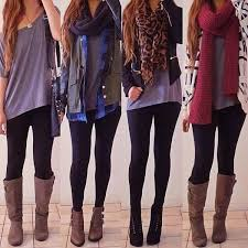 cute with leggings skinnies boots and long shirts