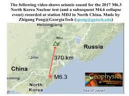 Nuclear Bomb Map Iris Special Event 2017 North Korean Nuclear Test