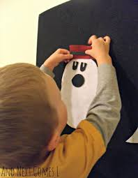 make a ghost felt board activity and next comes l