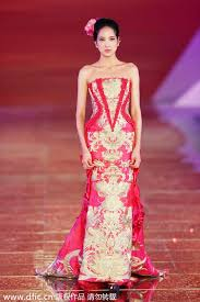 traditional chinese wedding dresses presented in shanghai 8