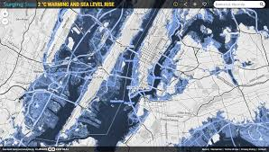More Sea Level Rise Maps Surging Seas 2 C Warming And Sea Level Rise