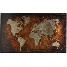 Map Art Bronze World Map Art Pier 1 Imports