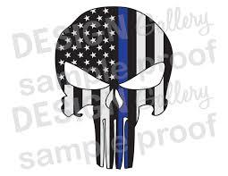 Cop Flag American Flag Punisher Jpg Image U0026 Svg Dxf Cut Thin Blue
