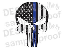 American Flag Skull American Flag Punisher Jpg Image U0026 Svg Dxf Cut Thin Blue