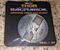 thor ragnarok opening night fan event rare thor ragnarok 2017 opening night fan event coin p