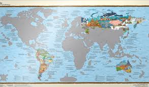 World Map Large by Wall Maps Of The World