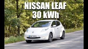 nissan leaf driving range nissan leaf 30 kwh eng test drive and review youtube