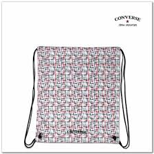 converse bags cons barbed wire cinch in white red black