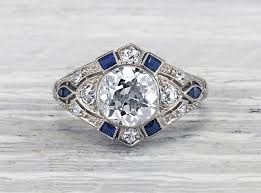 Vintage Wedding Rings by Art Deco Engagement Rings Erstwhile Jewelry Nyc