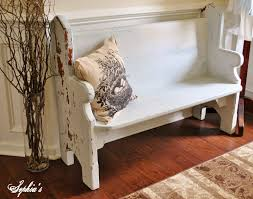 church pew home decor small church pew bench not too shabby my own creations