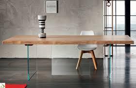 tavoli design cristallo tavolo design in legno grezzo narciso arredo design