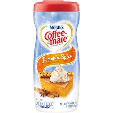 pumpkin spice for coffee coffee mate coffee creamer pumpkin spice liquid creamer walmart com