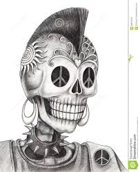 images of designs penciled skull sc