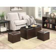 Kinfine Storage Ottoman Coffee Table Coffee Table With Pull Out Ottomans Best Storage