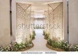 wedding backdrop wedding backdrop flower wedding decoration stock photo 565165354
