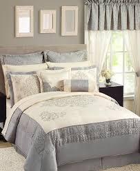 24 Piece Comforter Set Queen Sunham Fresco 23 Piece Queen Comforter Set Room In A Bag Cream Gray
