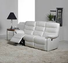 canape relax cuir blanc canapé relax electrique 3 places cameo blanc l 193 x h 102 x p 77