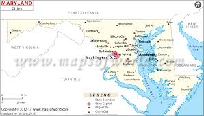 map of maryland with cities cities in maryland maryland cities map