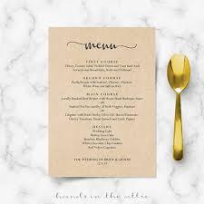 brunch wedding menu bridal brunch menu vintage country bbq diy wedding menu