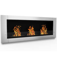 elite flame lenox ventless bio ethanol wall mounted fireplace