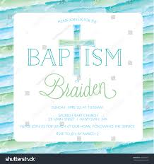 Sample Of Invitation Card For Christening Baptism Christening Invitation Card Invite Template Stock Vector