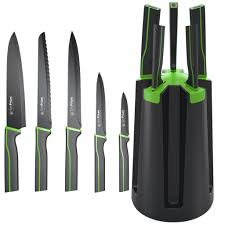 amazon com simprium spark knife block set with 5 sharp
