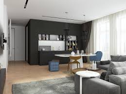 Rounded Kitchen Island Small Apartments With Open Concept Layouts Design By Style Small